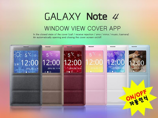 Window View Cover for NOTE4