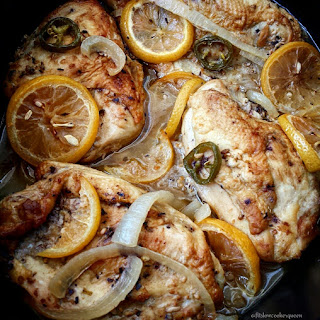Slow Cooker Garlic Citrus Chicken.