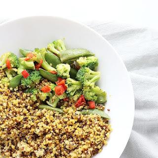 Easy Healthy Curry Quinoa with Veggies