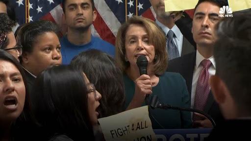Illegal immigrants shout down Nancy Pelosi, but Dems remain confident of passing DREAM Act