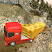 Off-Road Gold Transport Trailer Trucker 3D icon