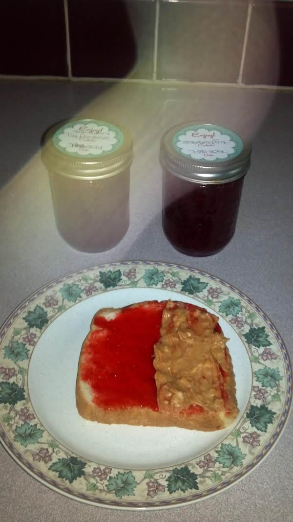 Homemade Strawberry Fig Jelly And Peanut Butter