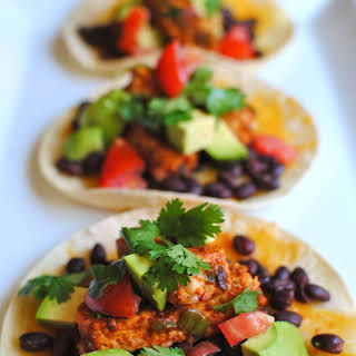 Black Bean and Tempeh Tostadas.