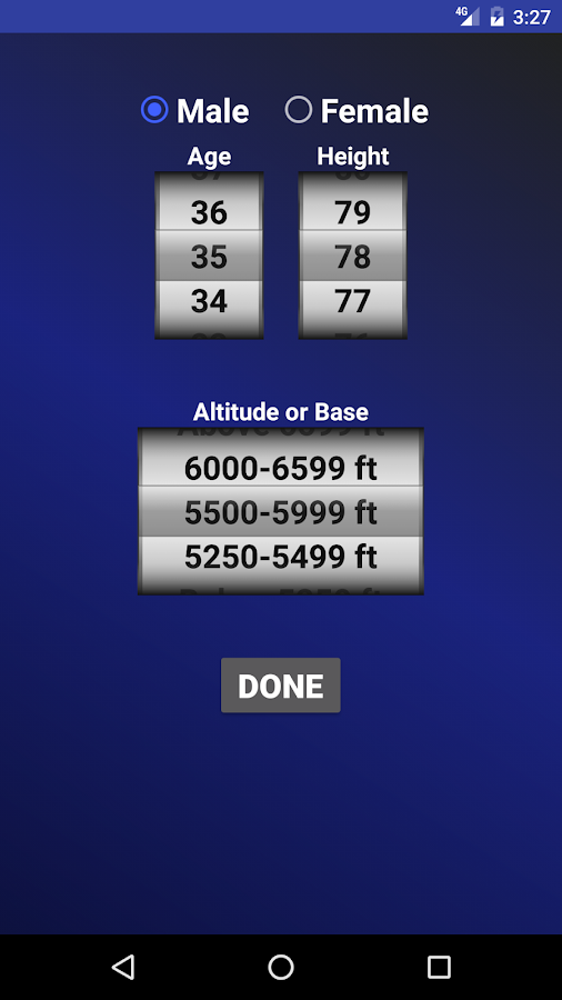 Air Force PT Test Calculator- screenshot