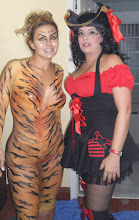 """Photo: Body Painting Halloween Party. By Paola from http://www.BestPartyPlanner.net """"Tiger Design"""""""