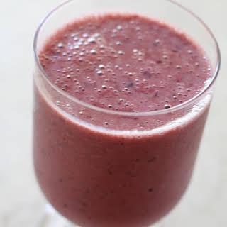 Cherry Soy Yogurt Smoothie.