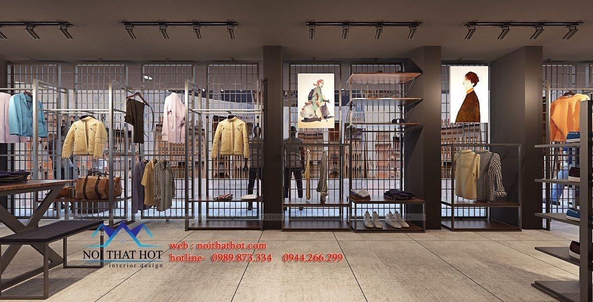thiết kế shop thời trang nam H2T 13