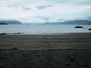 Photo: June 17 - Looking south from Kitson Island. Smith and Kennedy Islands are on the left, Porcher Island is on the right.