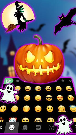 Halloween Pumpkin Keyboard Theme screenshots 3