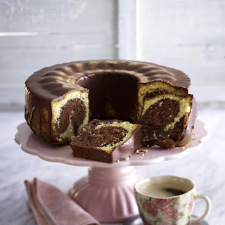 Chocolate Coconut Marble Cake.