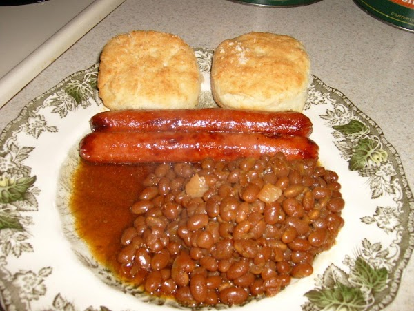 When my beans are done, I add more brown sugar.  This is of...