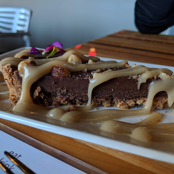 Chocolate caramel torte. I have dreams about this, it's that good!