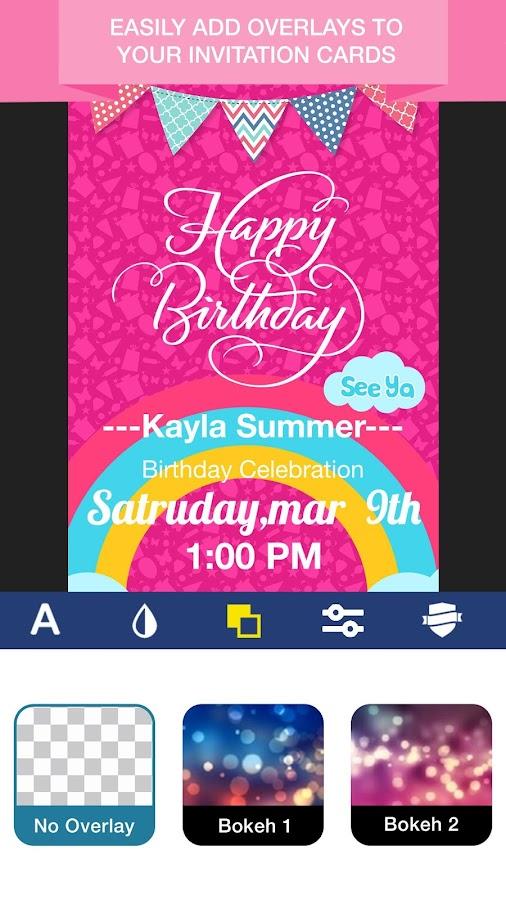 Invitation maker invite maker flyer creator android apps on invitation maker invite maker flyer creator screenshot stopboris Gallery
