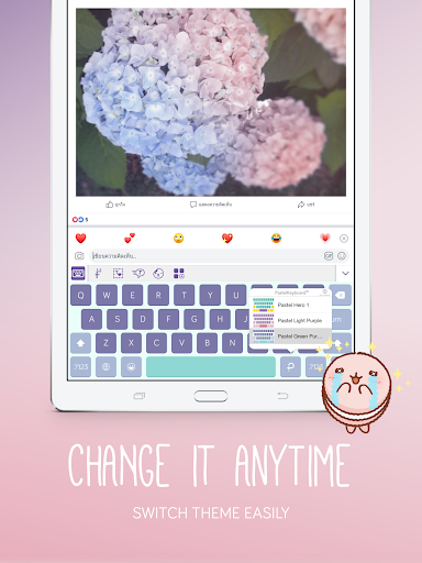 Screenshot for Pastel Keyboard Theme Color - Add colorful design in Hong Kong Play Store