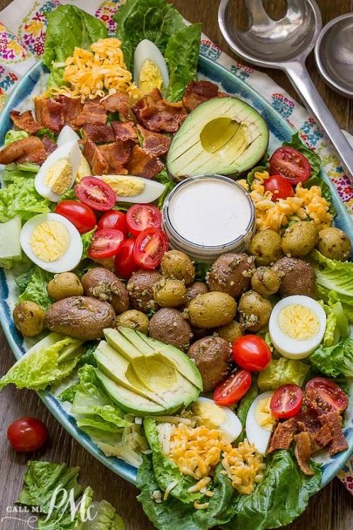 Best Cobb Salad With Buttermilk Garlic Dressing
