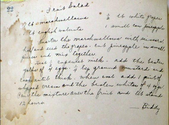 I found this very old handwritten recipe (pictured) on the internet and noticed it...