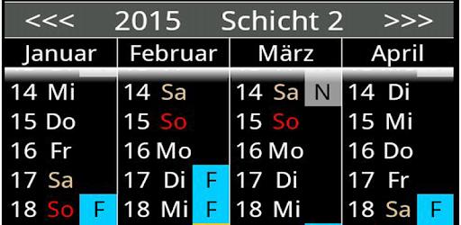 Shift calendar, 5.21 layer system.
