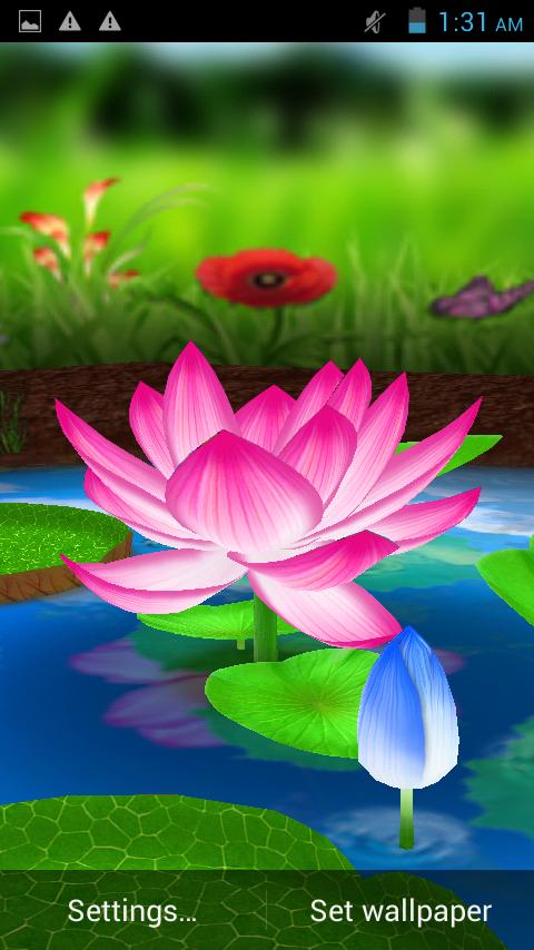 Lotus 3d Live Wallpaper Google Play Store Revenue Download