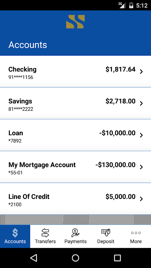 SSB Mobile Banking- screenshot