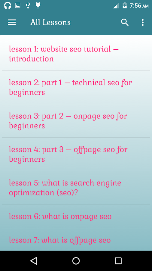 Website SEO Tutorial Lessons- screenshot