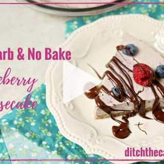 Low-Carb No Bake Blueberry Cheesecake.