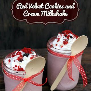 Red Velvet Cookies and Cream Milkshake