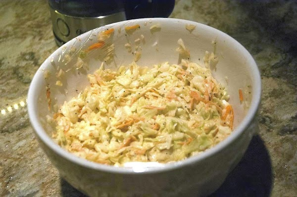 Toss the dressing with the coleslaw, cover and refrigerate for 1 hour before serving....