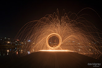 Photo: Steel wool / fire spinning at Albert Park