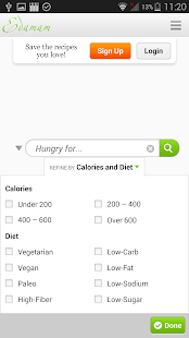 Recipes Search Samsung Health- screenshot thumbnail