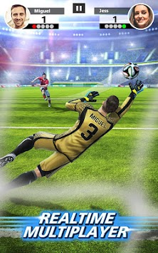 Fotbal Strike - Multiplayer Soccer APK screenshot thumbnail 1