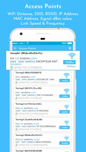 WiFi Analyzer & WiFi Signal Strength Meter App Report on
