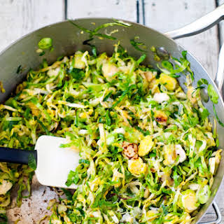 Shaved Brussel Sprout Saute.