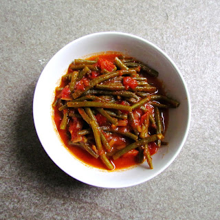 Syrian String Beans With Spiced Tomato Sauce.