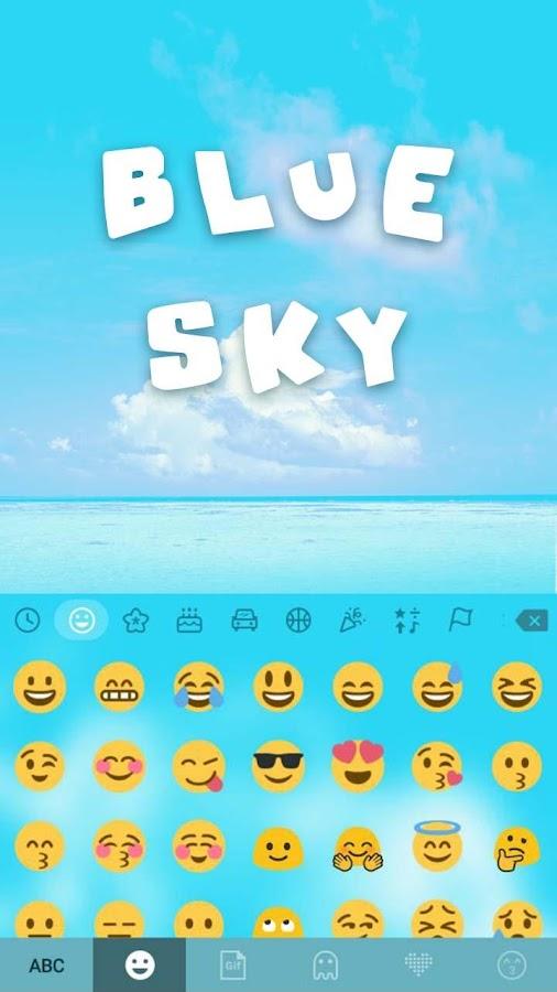 Blue-Sky-Kika-Keyboard-Theme 6