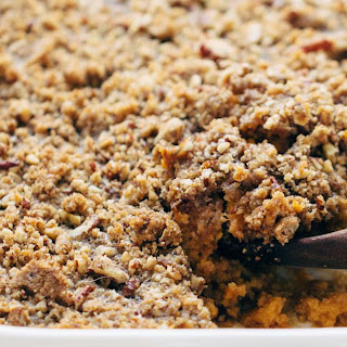 Super Easy Sweet Potato Casserole with Pecan Crumble