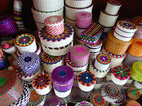 Photo: The women also make baskets, boxes and similar items