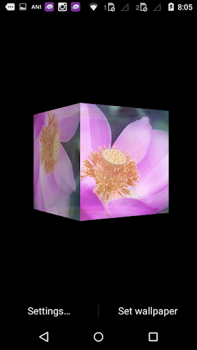 Lotus Flower Cube 3d LWP