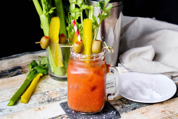 Best Bloody Mary Served With A Salt Rim.