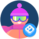 AR-Sticker: Wintersport