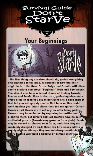 Survival Guide Don't Starve