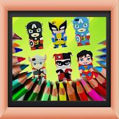 Coloring SuperHero Book Game