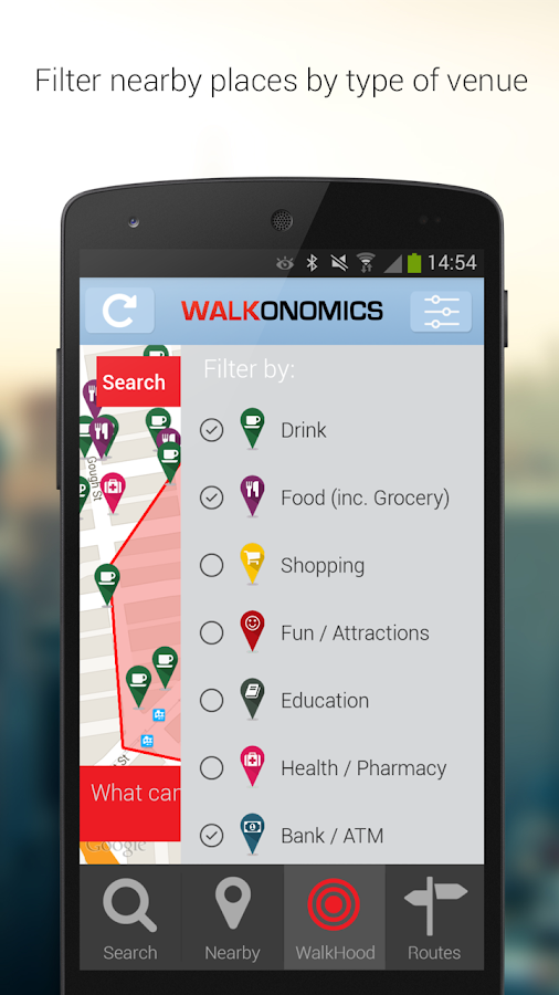 Walkonomics Navigation & Maps- screenshot