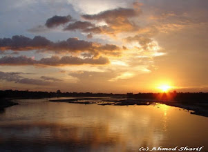 Photo: Sun set in Karatoa river