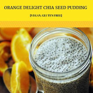 Creamy, Dreamy, Orange Delight Chia Seed Pudding (Gluten Free, Vegan)