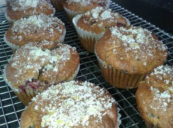 Raspberry & Lemon Muffins With Zesty Sugar Top