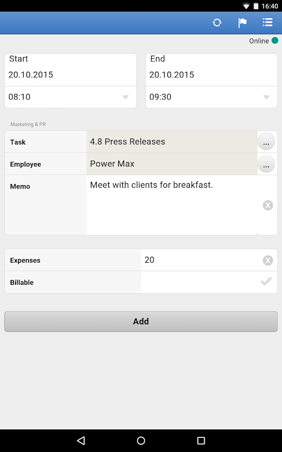 TimeTac Time Tracking- screenshot