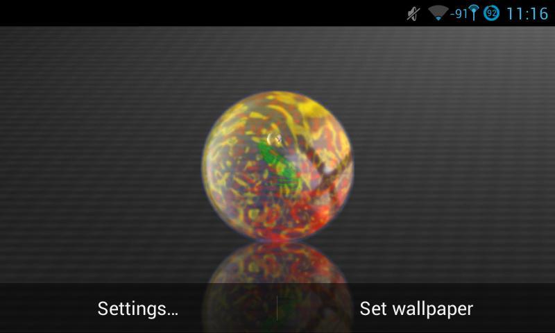 Скриншот Marbles Live Wallpaper
