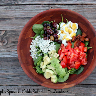 Simple Spinach Cobb Salad With Lardons #SundaySupper.