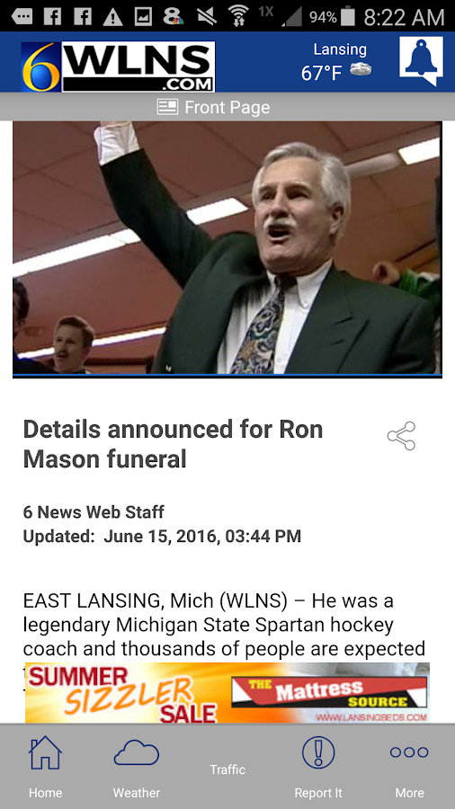 WLNS 6 News | Lansing, Jackson- screenshot