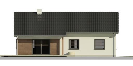 Dom przy Bukowej 5 - Elewacja tylna